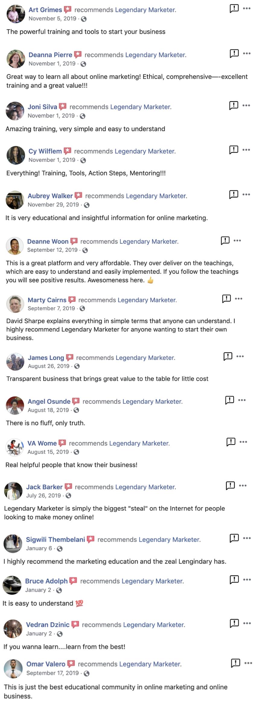 legendary marketer testimonials